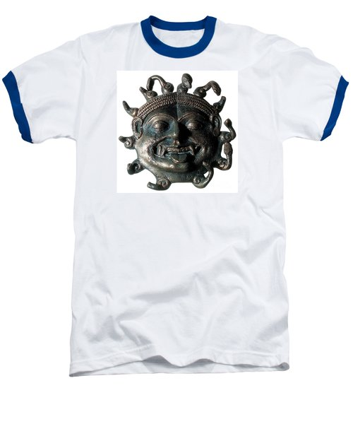 Gorgon Legendary Creature Baseball T-Shirt by Photo Researchers