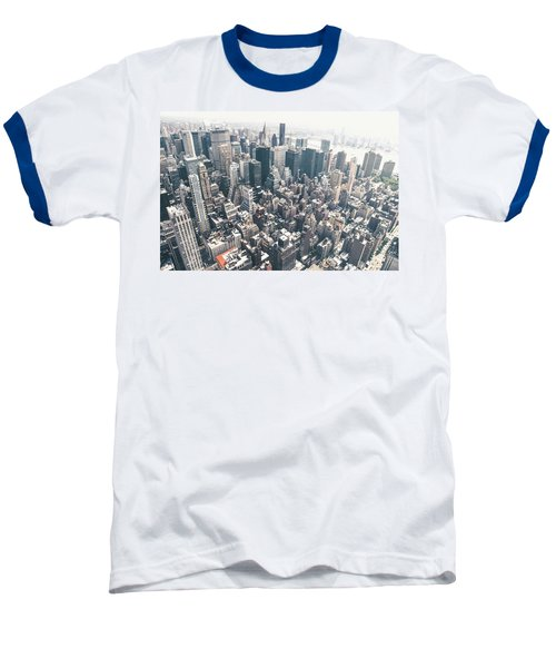 New York City From Above Baseball T-Shirt by Vivienne Gucwa