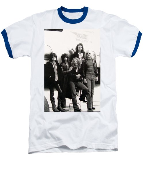 Aerosmith - Eurofest Jet 1977 Baseball T-Shirt by Epic Rights