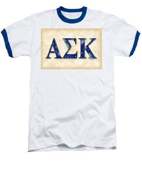 Alpha Sigma Kappa - Parchment Baseball T-Shirt by Stephen Younts