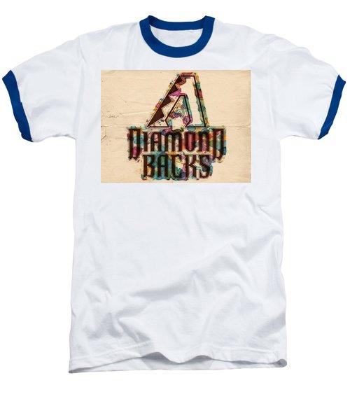 Arizona Diamondbacks Poster Vintage Baseball T-Shirt by Florian Rodarte