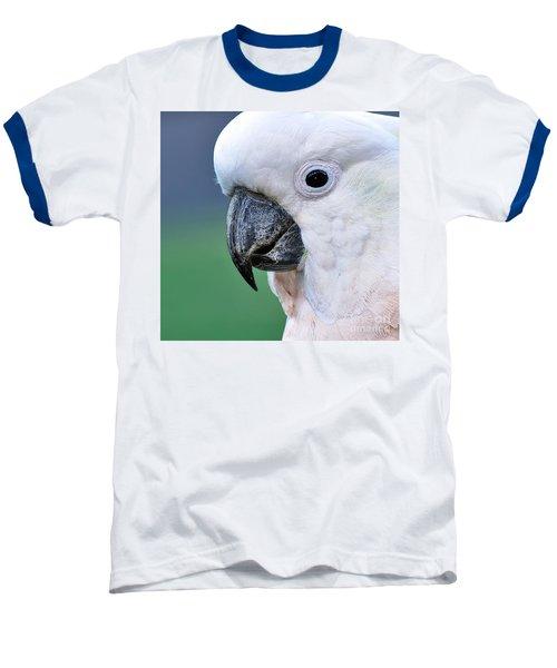 Australian Birds - Cockatoo Up Close Baseball T-Shirt by Kaye Menner
