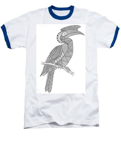 Bird Hornbill Baseball T-Shirt by Neeti Goswami