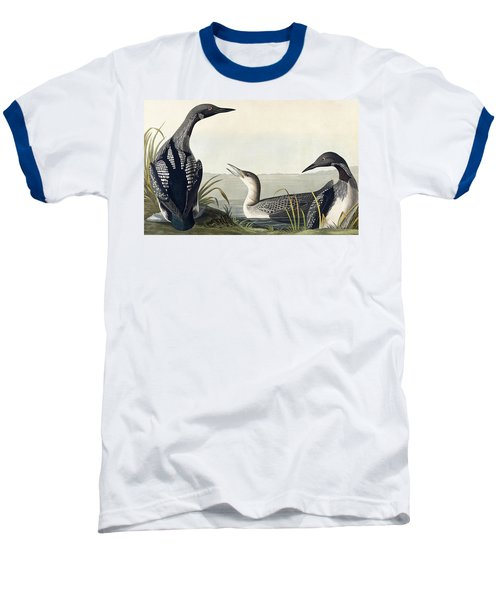 Black Throated Diver  Baseball T-Shirt by John James Audubon