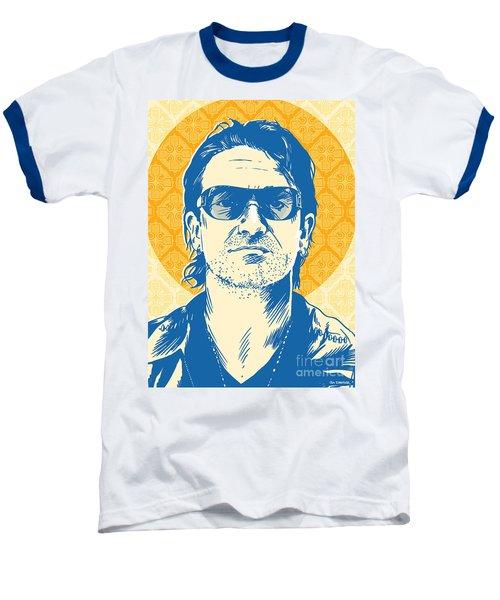 Bono Pop Art Baseball T-Shirt by Jim Zahniser