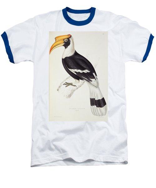 Great Hornbill Baseball T-Shirt by John Gould