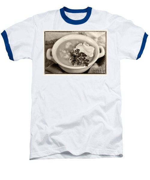 Cauliflower Soup Sepia Tone Baseball T-Shirt by Iris Richardson