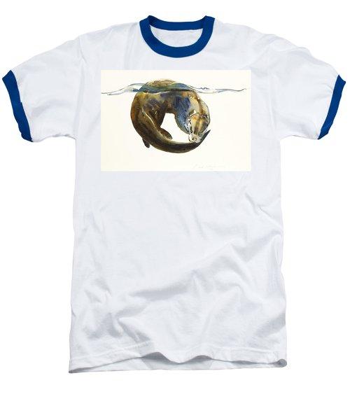 Circle Of Life Baseball T-Shirt by Mark Adlington
