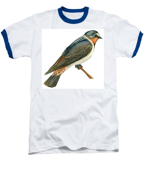Cliff Swallow  Baseball T-Shirt by Anonymous