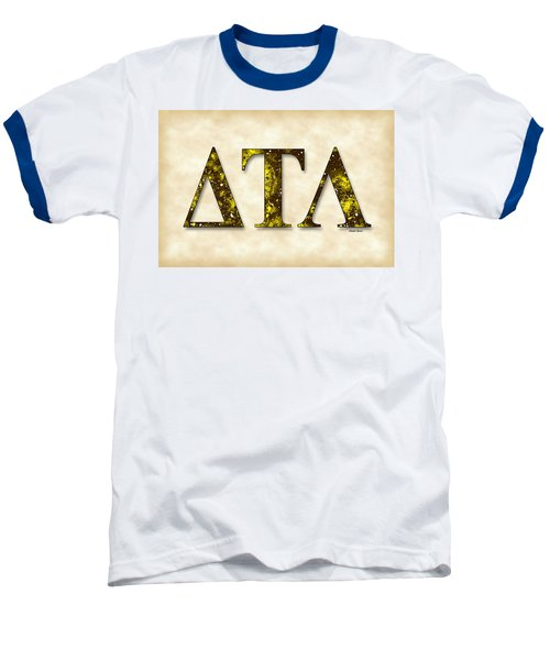 Delta Tau Lambda - Parchment Baseball T-Shirt by Stephen Younts