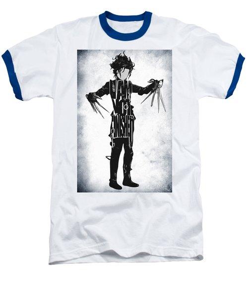 Edward Scissorhands - Johnny Depp Baseball T-Shirt by Ayse Deniz