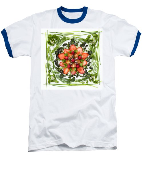Fresh Fruit Salad Baseball T-Shirt by Anne Gilbert