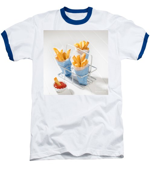 Fries Baseball T-Shirt by Amanda Elwell