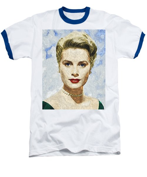 Grace Kelly Baseball T-Shirt by Taylan Apukovska
