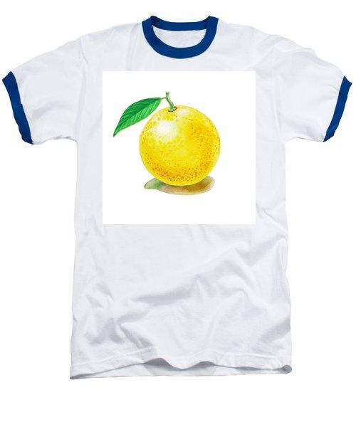 Grapefruit Baseball T-Shirt by Irina Sztukowski