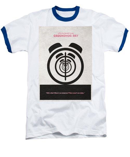 Groundhog Day Baseball T-Shirt by Ayse Deniz