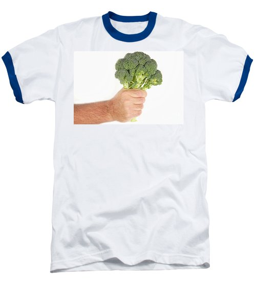 Hand Holding Broccoli Baseball T-Shirt by James BO  Insogna