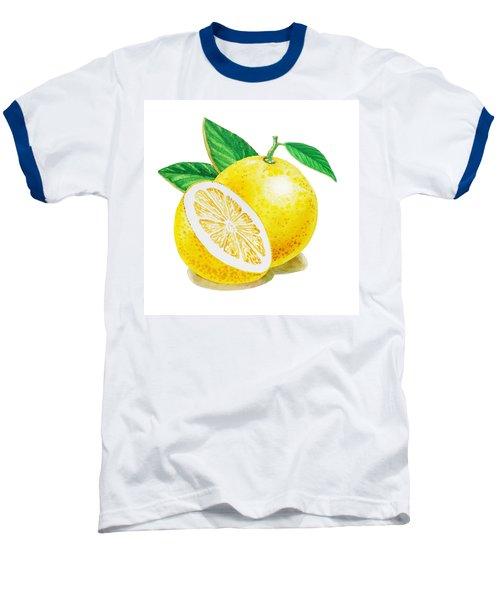 Happy Grapefruit- Irina Sztukowski Baseball T-Shirt by Irina Sztukowski