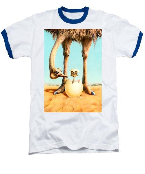 Hello Mum Baseball T-Shirt by Andrew Farley