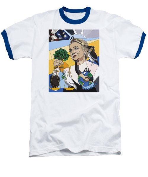 In Honor Of Hillary Clinton Baseball T-Shirt by Konni Jensen