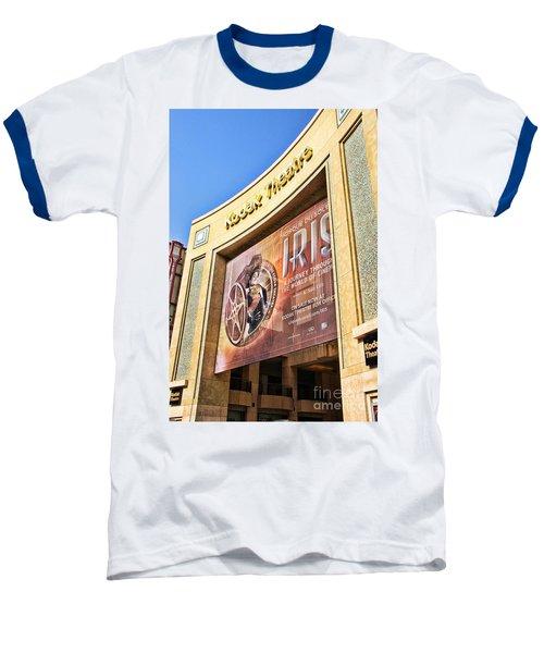 Kodak Theatre Baseball T-Shirt by Mariola Bitner