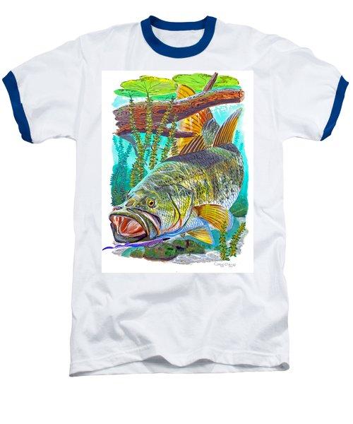 Largemouth Bass Baseball T-Shirt by Carey Chen