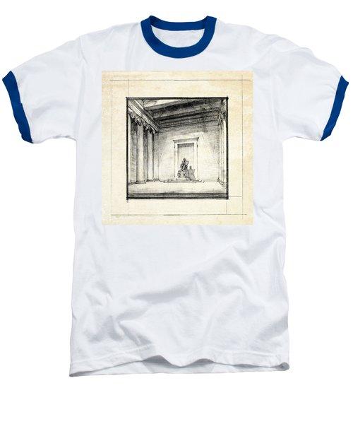 Lincoln Memorial Sketch IIi Baseball T-Shirt by Gary Bodnar
