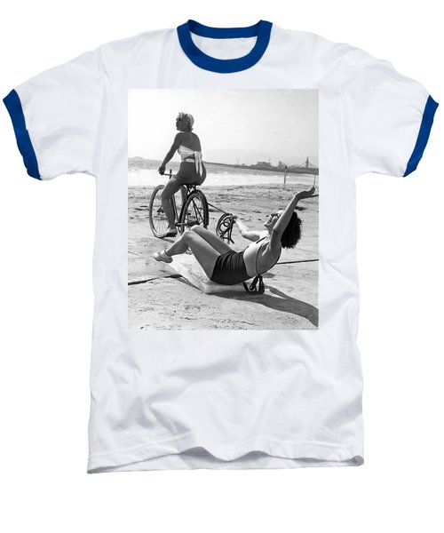 New Sport Of Ice Planing Baseball T-Shirt by Underwood Archives