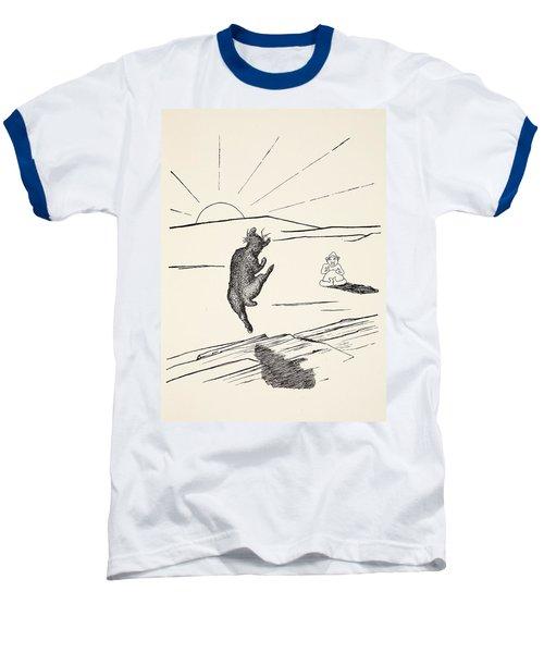 Old Man Kangaroo Baseball T-Shirt by Rudyard Kipling