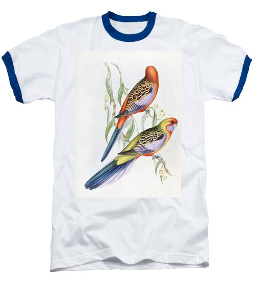 Platycercus Adelaidae From The Birds Of Australia Baseball T-Shirt by John Gould