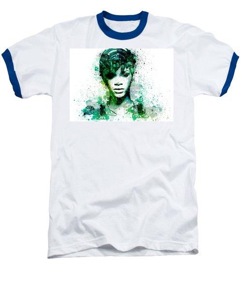 Rihanna 5 Baseball T-Shirt by Bekim Art