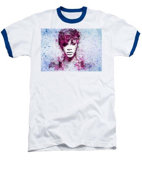 Rihanna 8 Baseball T-Shirt by Bekim Art