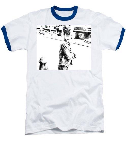 Rihanna Hanging Out Baseball T-Shirt by Brian Reaves