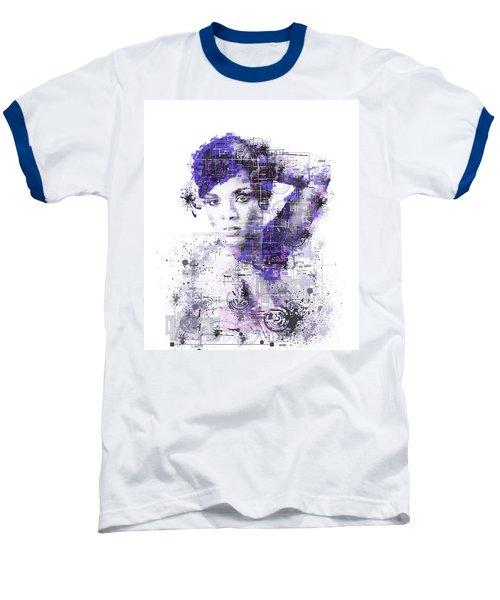 Rihanna Baseball T-Shirt by Bekim Art