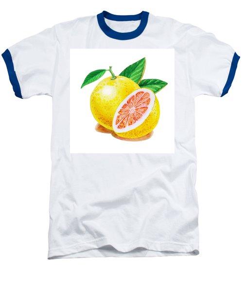 Ruby Red Grapefruit Baseball T-Shirt by Irina Sztukowski