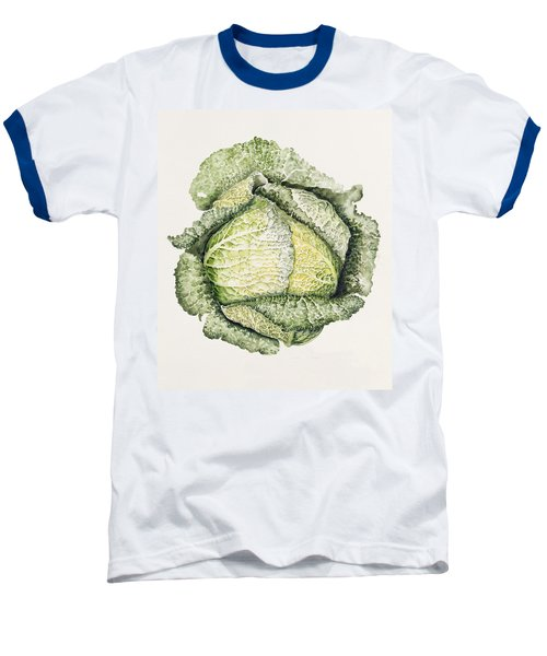 Savoy Cabbage  Baseball T-Shirt by Alison Cooper