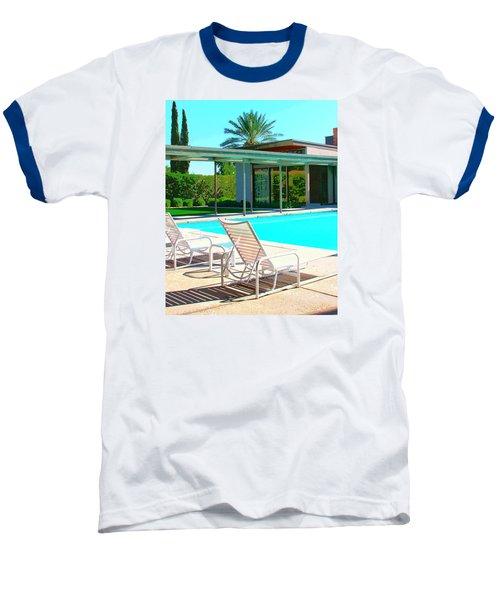 Sinatra Pool Palm Springs Baseball T-Shirt by William Dey