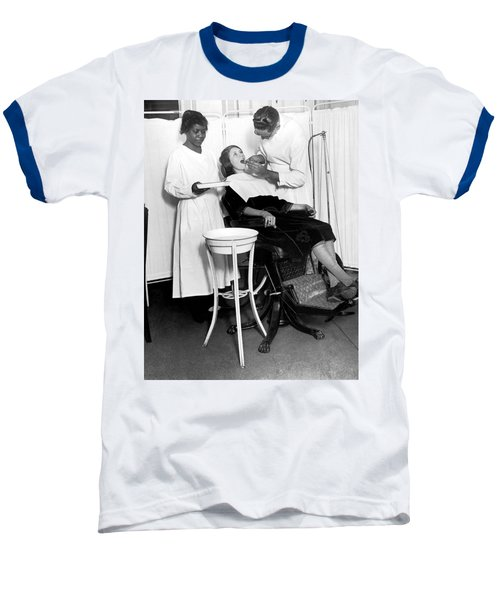The North Harlem Dental Clinic Baseball T-Shirt by Underwood Archives