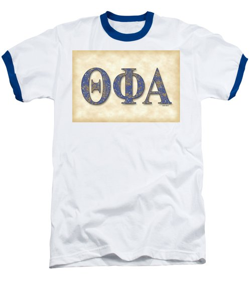 Theta Phi Alpha - Parchment Baseball T-Shirt by Stephen Younts