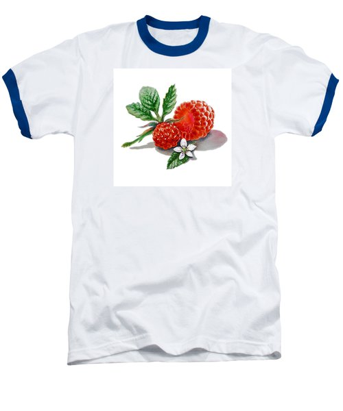 Artz Vitamins A Very Happy Raspberry Baseball T-Shirt by Irina Sztukowski