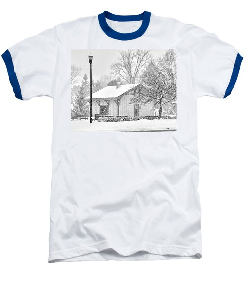 Whitehouse Train Station Baseball T-Shirt by Jack Schultz