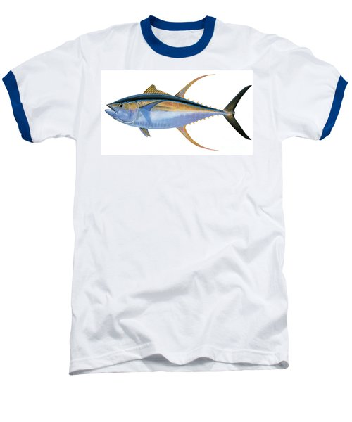 Yellowfin Tuna Baseball T-Shirt by Carey Chen