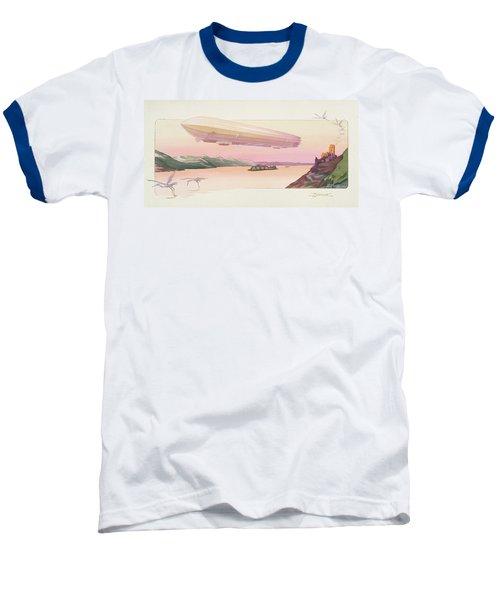 Zeppelin, Published Paris, 1914 Baseball T-Shirt by Ernest Montaut