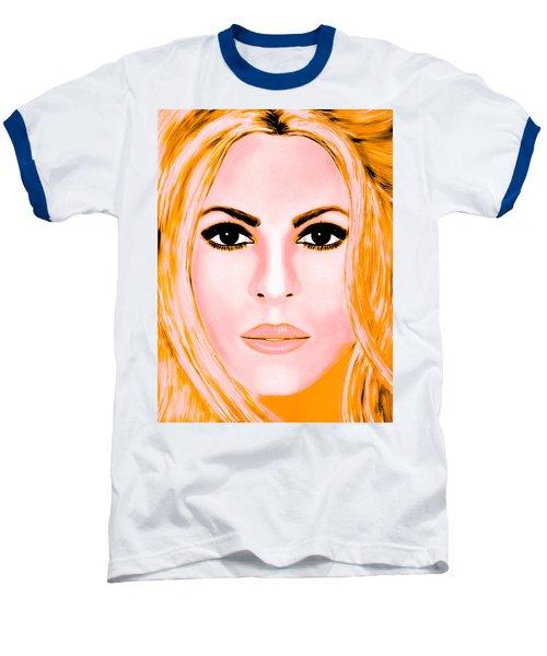 Gold Shakira Baseball T-Shirt by Mathieu Lalonde