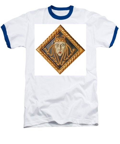 Medusa Baseball T-Shirt by Photo Researchers