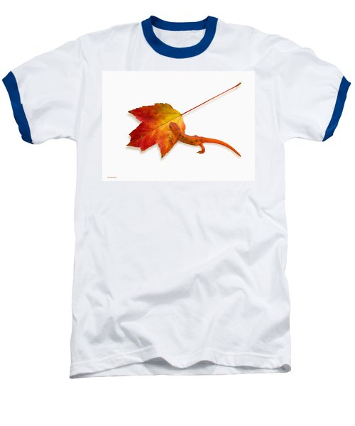 Red Spotted Newt Baseball T-Shirt by Ron Jones