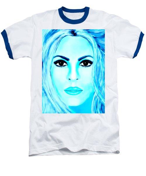 Shakira Avator Baseball T-Shirt by Mathieu Lalonde