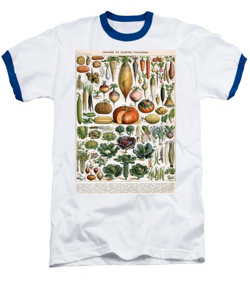 Illustration Of Vegetable Varieties Baseball T-Shirt by Alillot
