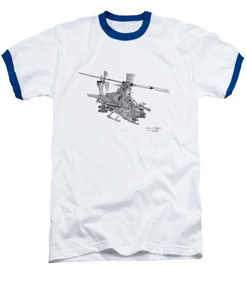 Bell Ah-1z Viper Baseball T-Shirt by Arthur Eggers