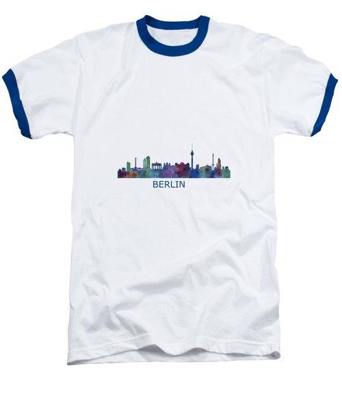 Berlin City Skyline Hq 1 Baseball T-Shirt by HQ Photo